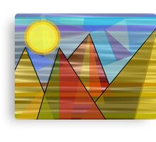 Abstract Peaks Canvas Print