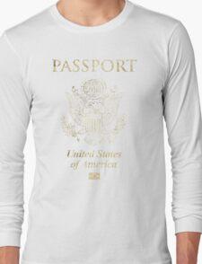 USA Vintage Passport Long Sleeve T-Shirt