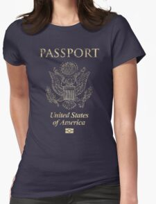 USA Vintage Passport Womens Fitted T-Shirt