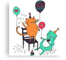 Awesome Birthday Canvas Print