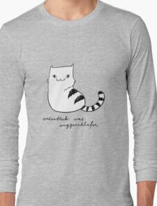 Ordentlich was weggeschlafen (black and white print) Long Sleeve T-Shirt