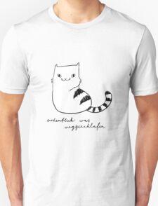Ordentlich was weggeschlafen (black and white print) Unisex T-Shirt