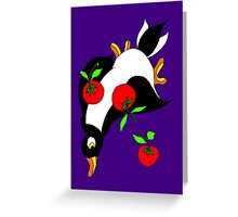 Diving Duck Red Greeting Card