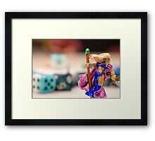 Thia with Dice Framed Print