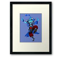 Woman Strom Spirit! Framed Print