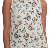 Cats in Grey Contrast Tank