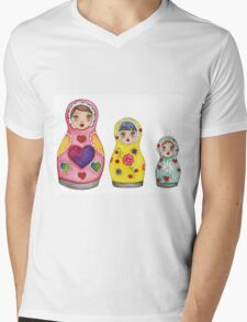 Russian Doll Mens V-Neck T-Shirt
