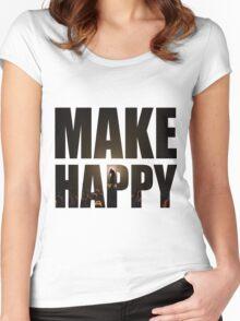 Bo Burnham: Make Happy Women's Fitted Scoop T-Shirt