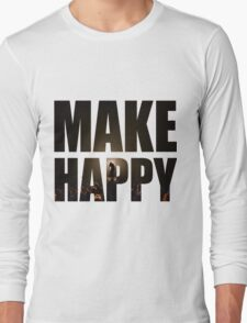 Bo Burnham: Make Happy Long Sleeve T-Shirt