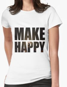 Bo Burnham: Make Happy Womens Fitted T-Shirt