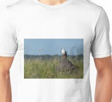 African fish eagle perched on termite mound Unisex T-Shirt