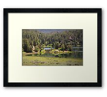 Cabin On The Lake Framed Print