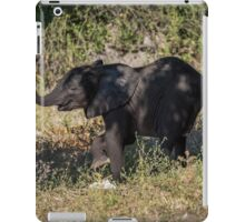 Baby elephant appearing to dance down slope iPad Case/Skin
