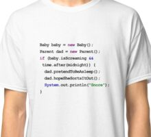 Java Code New Baby - pretend to be asleep Classic T-Shirt