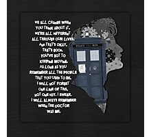 When the Doctor was Me, Doctor Who Photographic Print