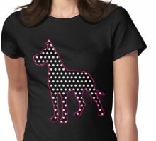 Polka Dot Great Dane Womens Fitted T-Shirt