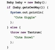 Java Code New Baby - Throws Tantrum Kids Tee
