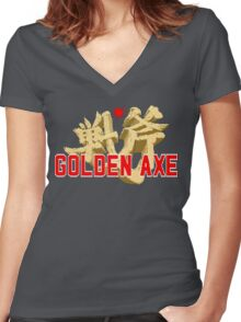 Golden Axe Women's Fitted V-Neck T-Shirt