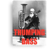 THUMPING BASS - Origins of House Music Canvas Print