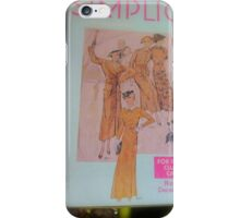 Vintage 1934 Pattern Tin, And Accessories  iPhone Case/Skin
