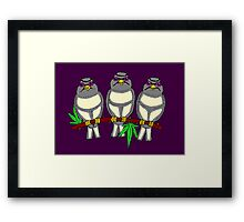 Birds on line I Framed Print