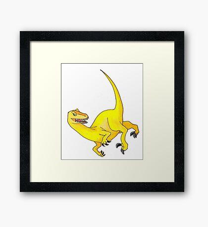 Yellow Velociraptor Framed Print