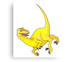 Yellow Velociraptor Metal Print