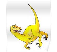 Yellow Velociraptor Poster