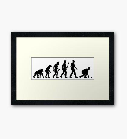 Funny Lawn Bowls Evolution Of Man Framed Print