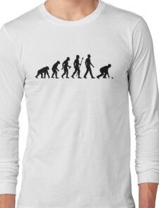 Funny Lawn Bowls Evolution Of Man Long Sleeve T-Shirt