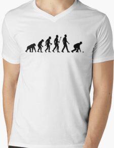 Funny Lawn Bowls Evolution Of Man Mens V-Neck T-Shirt