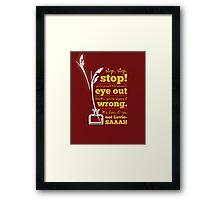 Harry Potter Wingardium Leviosa Framed Print