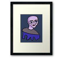 Purple cartoon character Framed Print