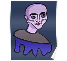 Purple cartoon character Poster