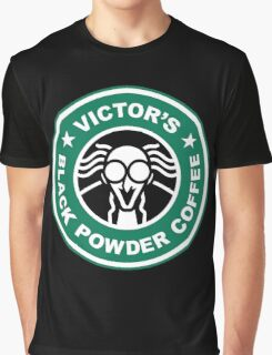 Victor's Black Powder Coffee Graphic T-Shirt