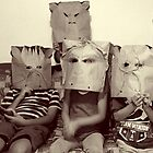 Children with masks  by Narin Ismail