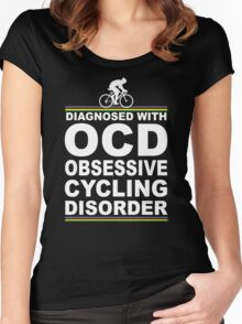 OCD Obsessive Cycling Disorder Funny T Shirt Women's Fitted Scoop T-Shirt