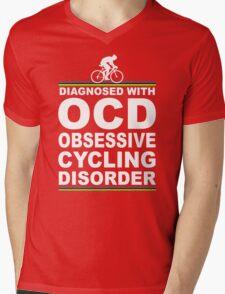 OCD Obsessive Cycling Disorder Funny T Shirt Mens V-Neck T-Shirt