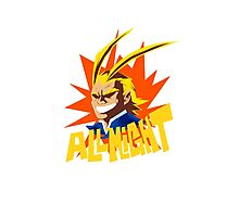 ALL MIGHT!!!!! Photographic Print