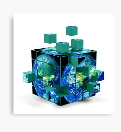 Cubes Of Earth Canvas Print