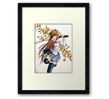 Sword and Flowers Framed Print