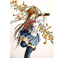 Sword and Flowers Photographic Print