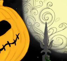 Pumpkins Scream in the Dead of Night Sticker