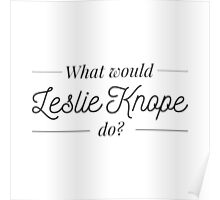 What would Leslie Knope do? Poster