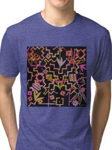Black, Yellow, Pink Chakana Mash-up Tri-blend T-Shirt