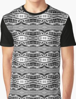 Curved Window Pattern Graphic T-Shirt