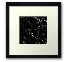 BLACK MARBLE  Framed Print