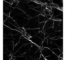 BLACK MARBLE  Photographic Print