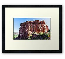 Cathedral Rock from the Saddle Area Framed Print