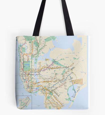 new york subway Tote Bag